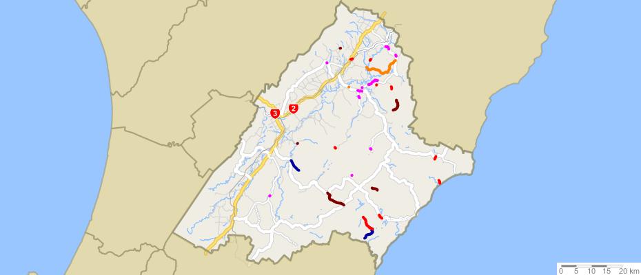 Road status map